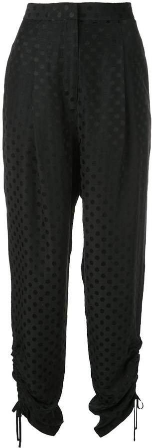 polka dot tapered trousers
