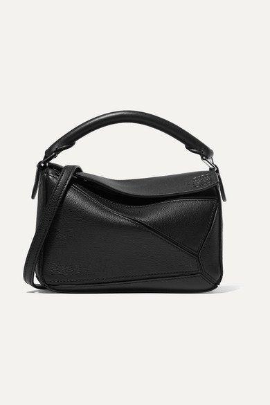 Loewe | Puzzle mini textured-leather shoulder bag | NET-A-PORTER.COM