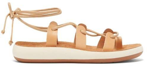 Alcyone Lace Up Leather Sandals - Womens - Tan