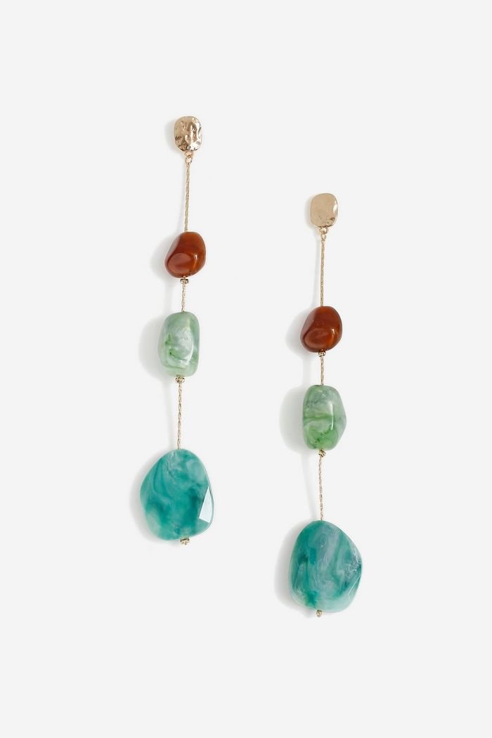 **Bead Linear Drop Earrings | Topshop
