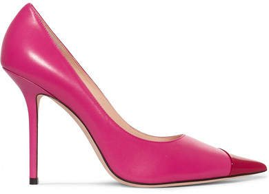 Love 100 Two-tone Matte And Patent-leather Pumps - Pink
