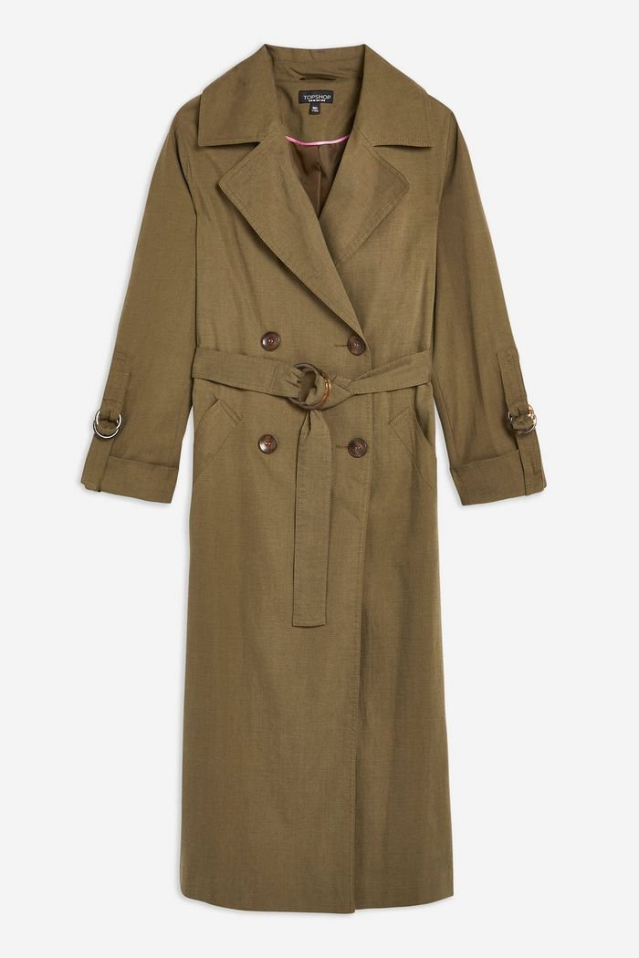 Belted Trench Coat   Topshop khaki