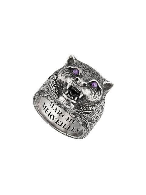 Gucci Garden feline head ring