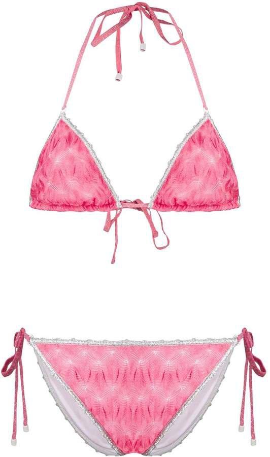 Mare embroidered detail bikini set