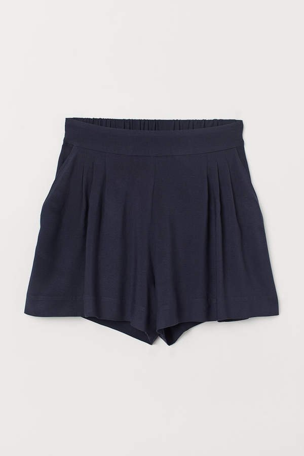 Wide-cut Shorts - Blue