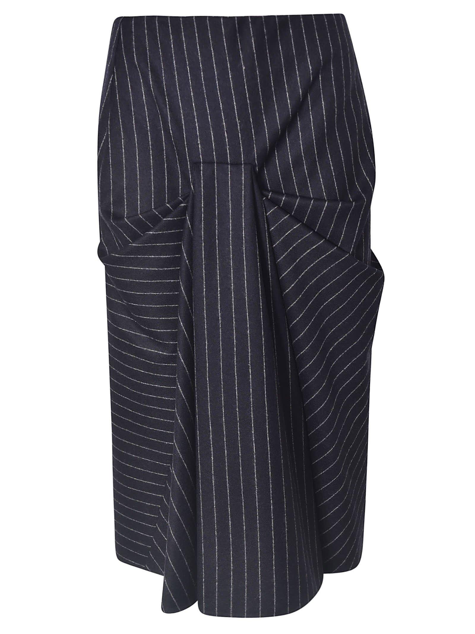 Alexander McQueen Striped Skirt