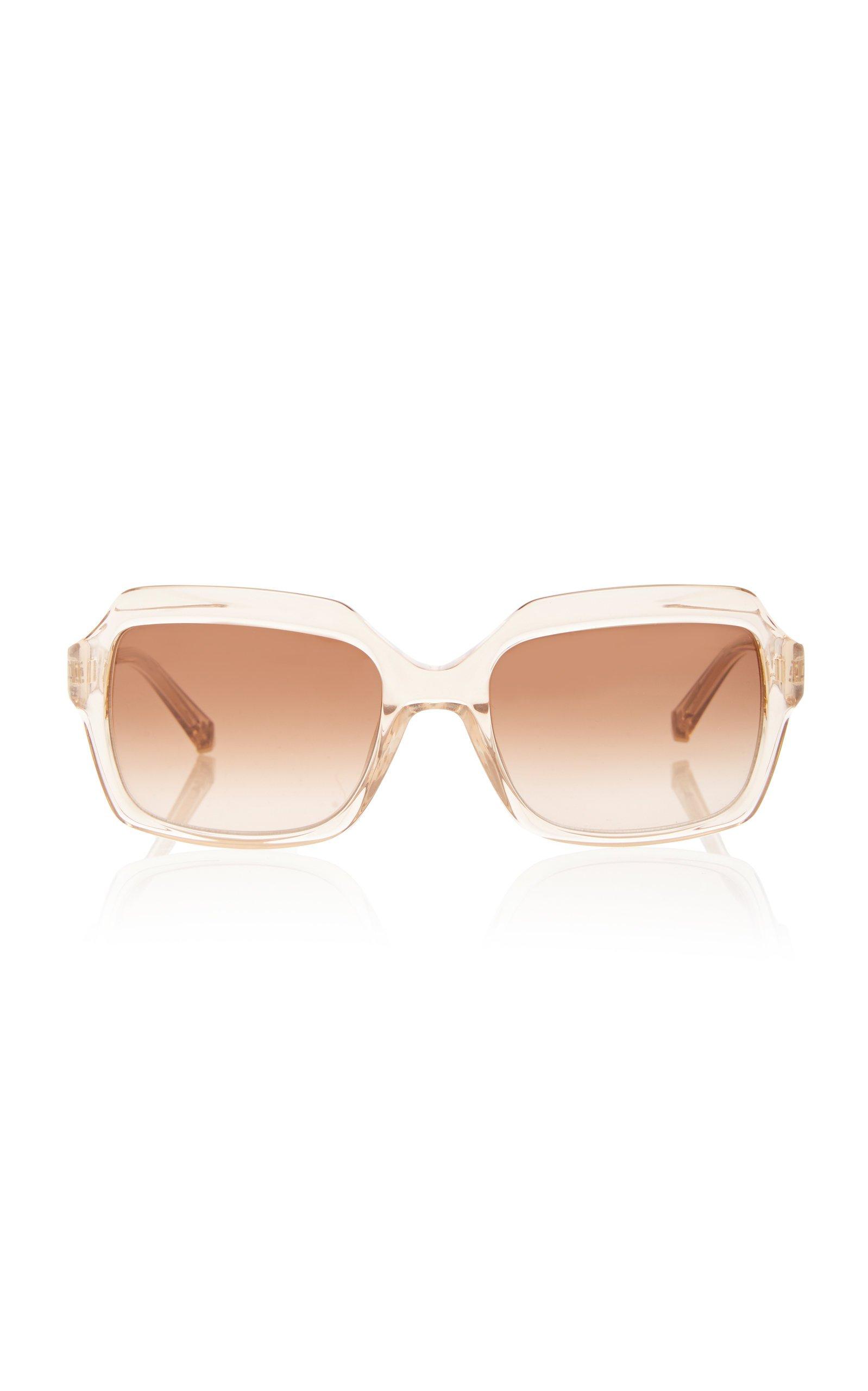 Kate Young Toni Square-Frame Acetate Sunglasses
