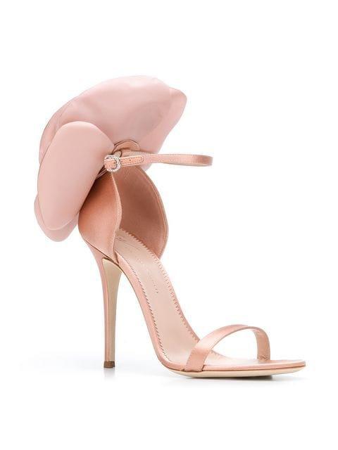 Giuseppe Zanotti peony appliqué sandals