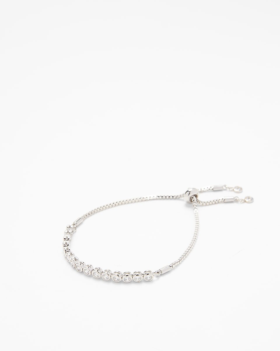 Cubic Zirconia Pull Chain Bracelet | Express