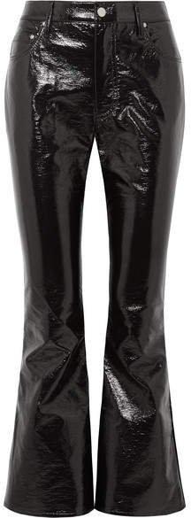 Beaufille - Veritas Cropped Vinyl Flared Pants - Black