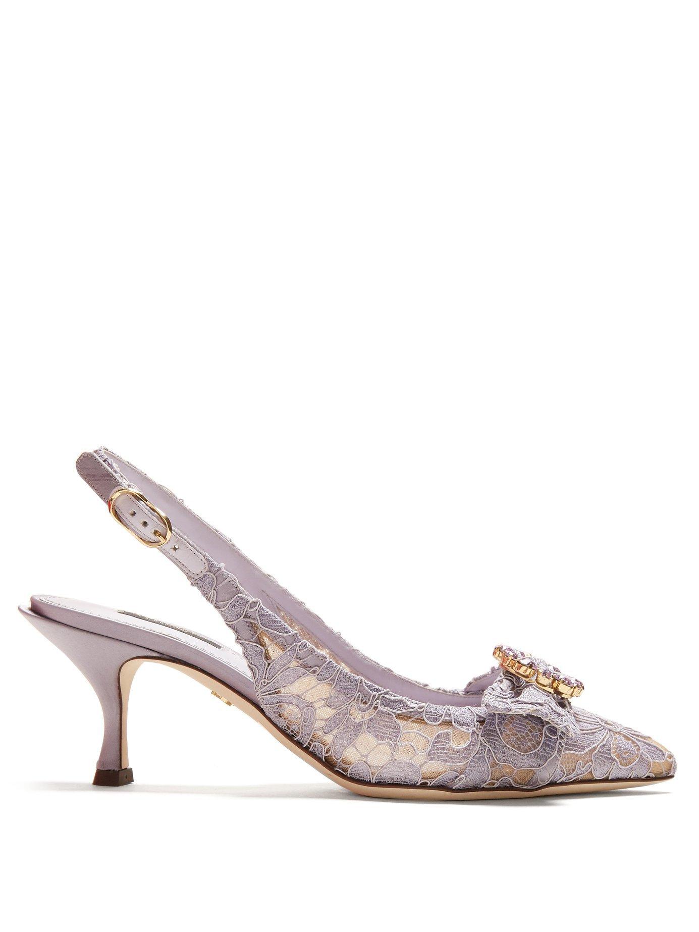 Lori crystal-embellished lace kitten-heel pumps | Dolce & Gabbana | MATCHESFASHION.COM US