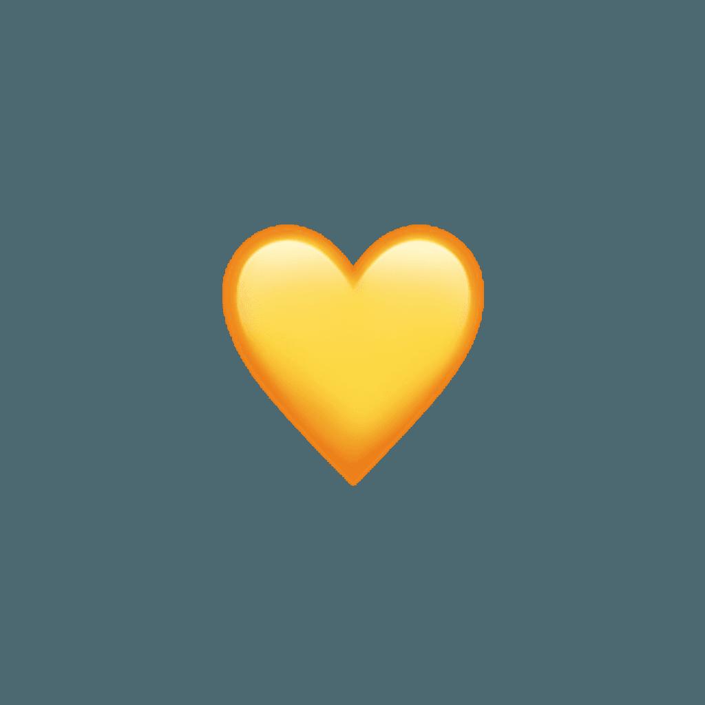 yellow aesthetic tumblr cute sun heart hearts emoji app...