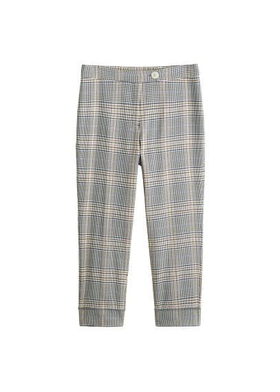 Violeta BY MANGO Check cotton trousers