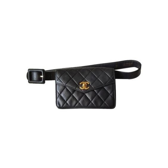 Chanel Waist Pouch/ Clutch Black Travel Bag