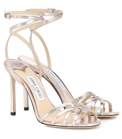 Mimi 100 metallic leather sandals