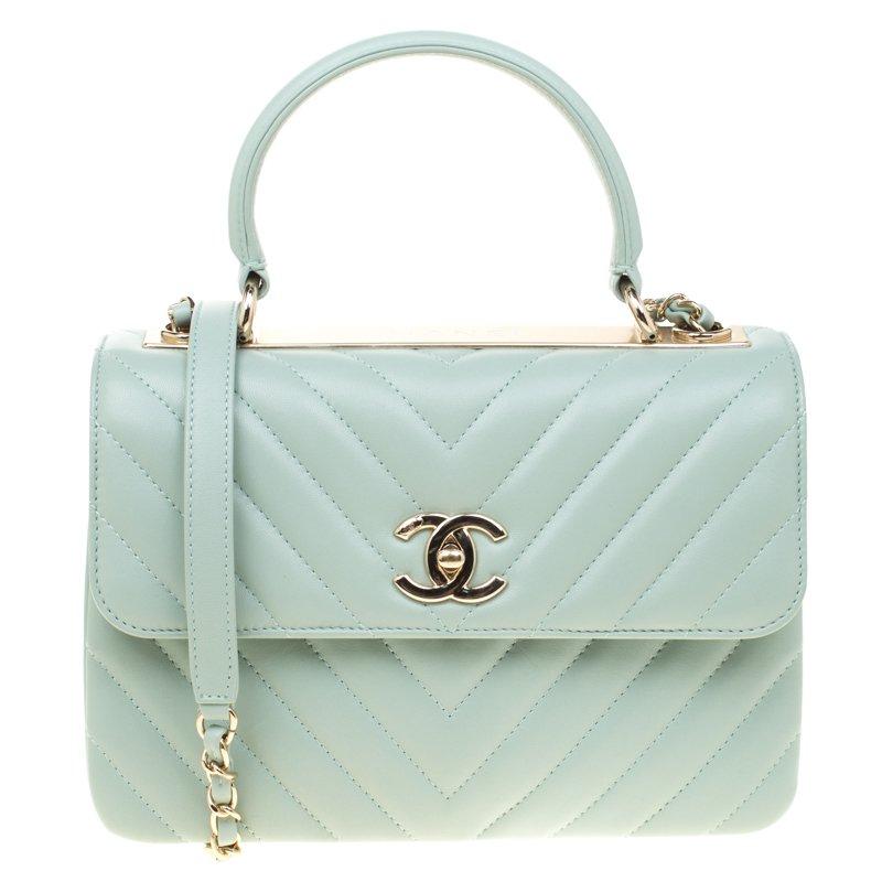 chanel mint green bag
