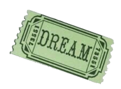 "Green ""dream"" ticket png"