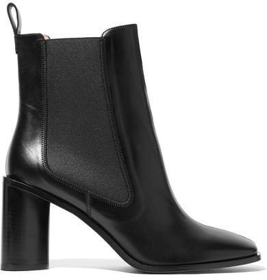 Bethany Leather Ankle Boots - Black