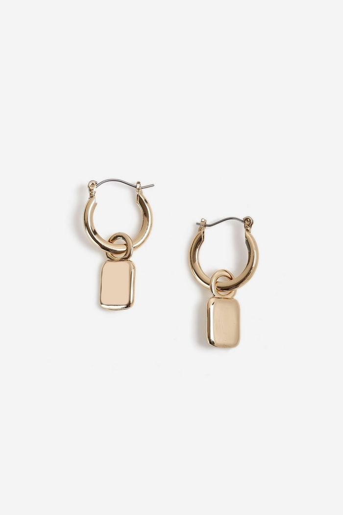 **Tag Drop Hoop Earrings | Topshop