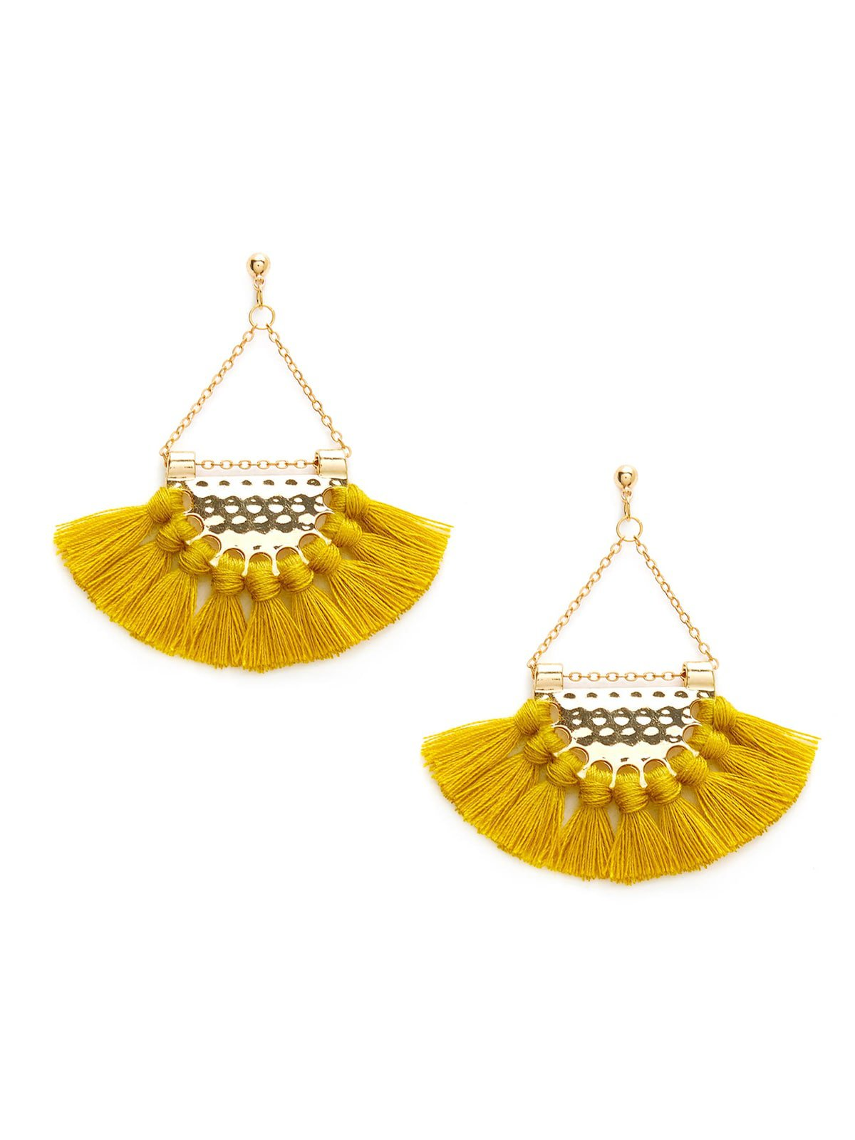 Mini Tassel Fan Shaped Earrings | ROMWE