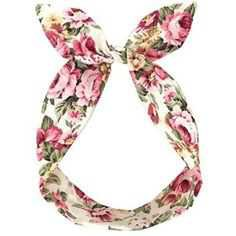 LULU IN THE SKY Ivory Vintage Floral Wired Headband