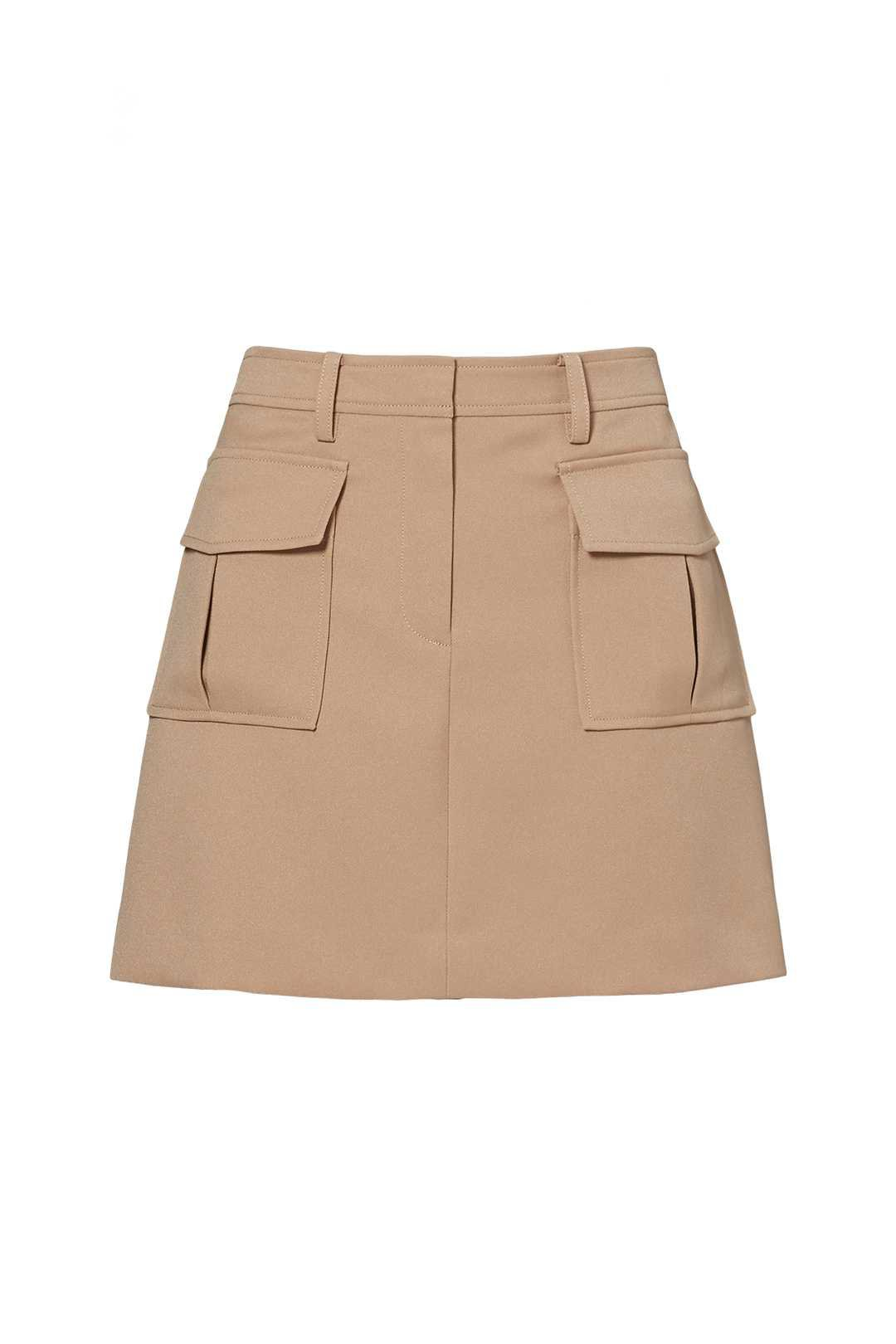 Beige Mini Military Skirt by Theory for $45   Rent the Runway