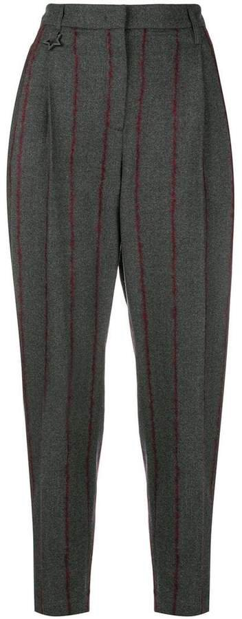 stripes tapered trousers