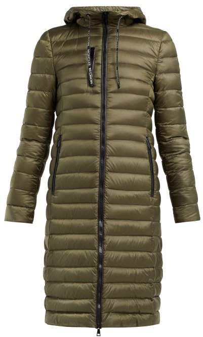 Suvette Quilted Down Coat - Womens - Dark Green