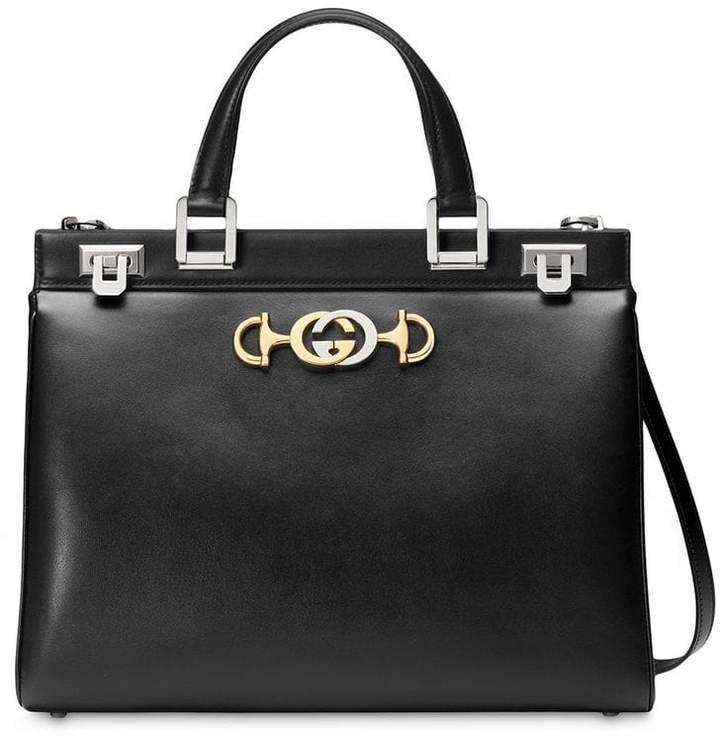 Zumi smooth leather medium top handle bag