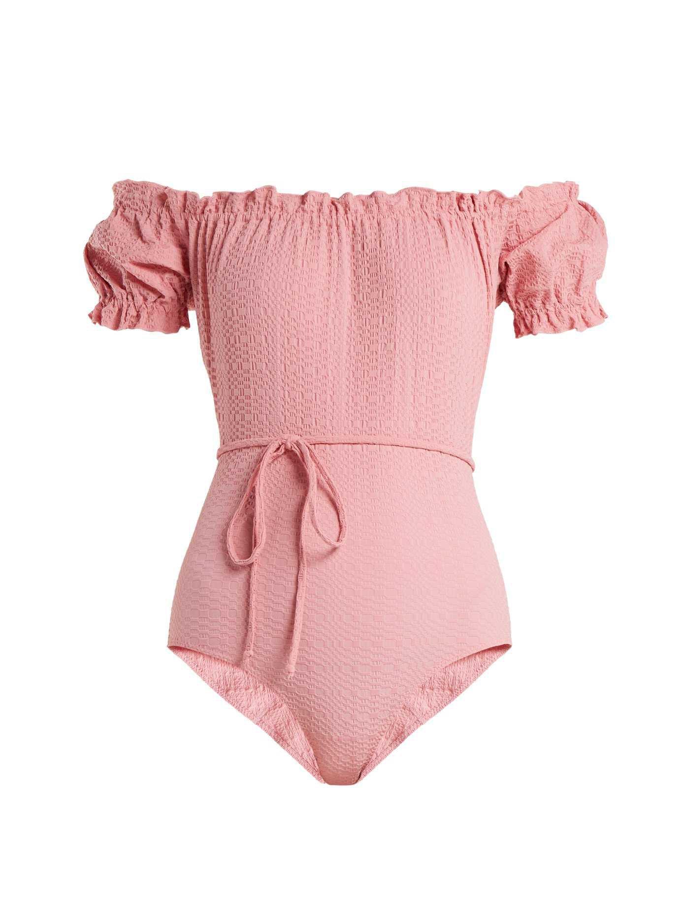 Leandra off-the-shoulder swimsuit   Lisa Marie Fernandez   MATCHESFASHION.COM UK