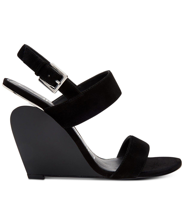 Calvin Klein Women's Leslie Wedge Sandals
