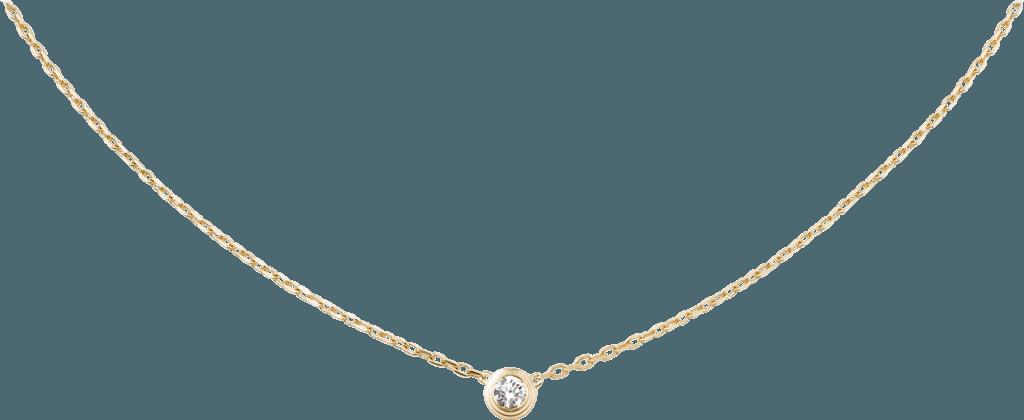 CRB7215500 - Diamants Légers necklace, LM - Yellow gold, diamond - Cartier
