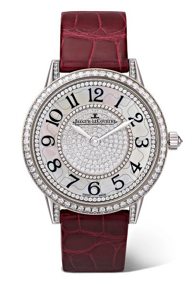 Jaeger-LeCoultre | Rendez-Vous Night & Day Ivy 34mm 18-karat white gold, alligator and diamond watch | NET-A-PORTER.COM