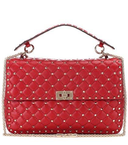 Valentino Garavani Rockstud Spike chain leather shoulder bag