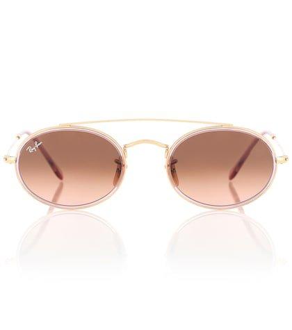Oval Double Bridge sunglasses
