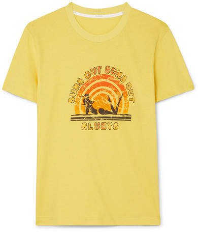 Goldie Printed Cotton-jersey T-shirt - Yellow