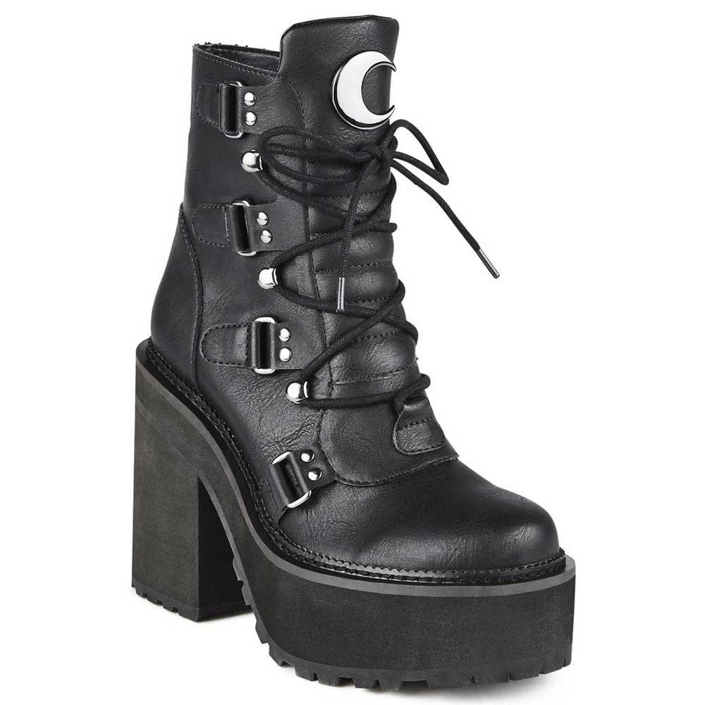 Killstar Broom Rider platform boot black