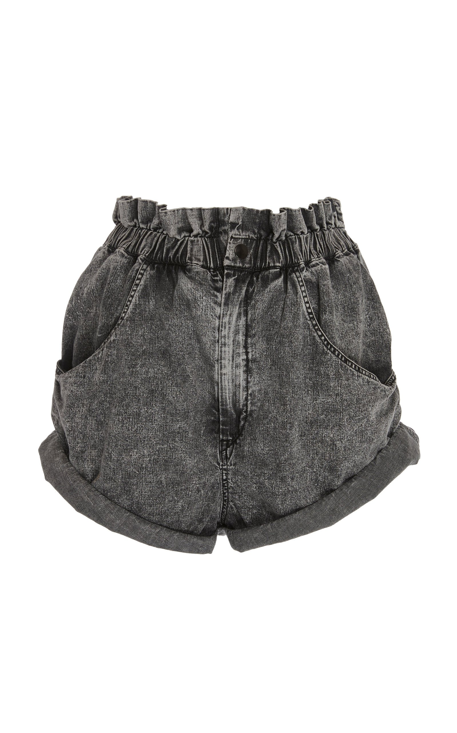 Isabel Marant Lucio High-Rise Denim Shorts