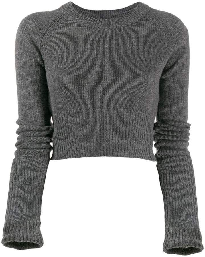 cropped knit cashmere top