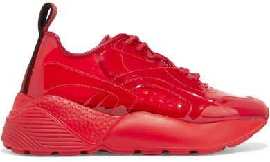 Eclypse Logo-woven Pu Sneakers - Red