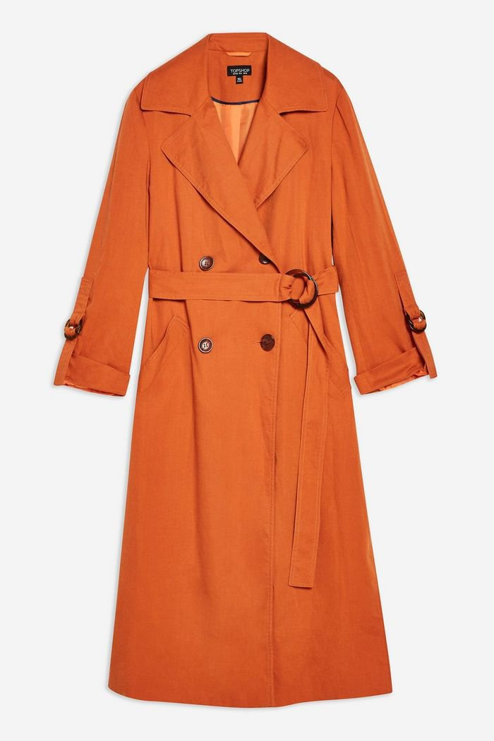 Belted Trench Coat   Topshop