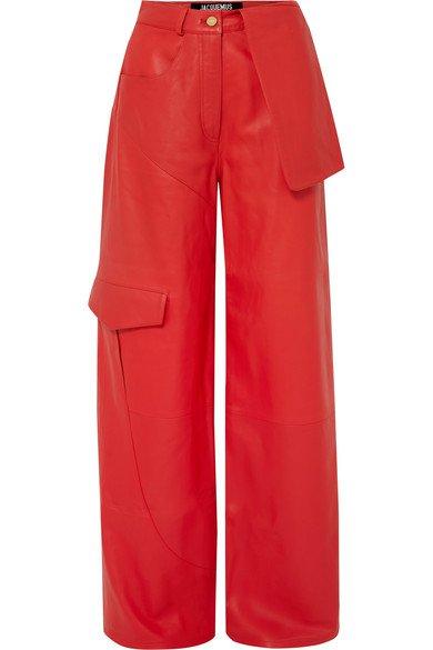 Jacquemus | Pantalon large en cuir Le Pantalon de Nîmes | NET-A-PORTER.COM