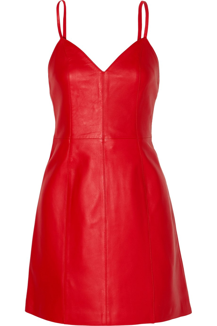 ALEXACHUNG   Leather mini dress   NET-A-PORTER.COM