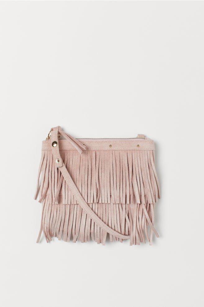 Shoulder Bag with Fringe - Light pink - Kids | H&M US