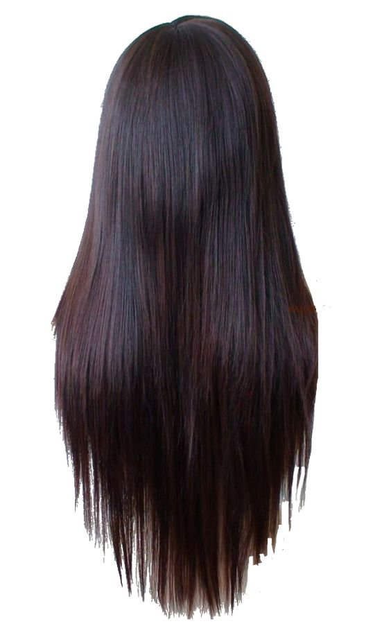 Straight Brown Hair (Back)