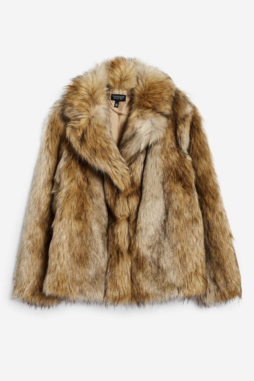TALL Vintage Faux Fur Coat - Jackets & Coats - Clothing - Topshop