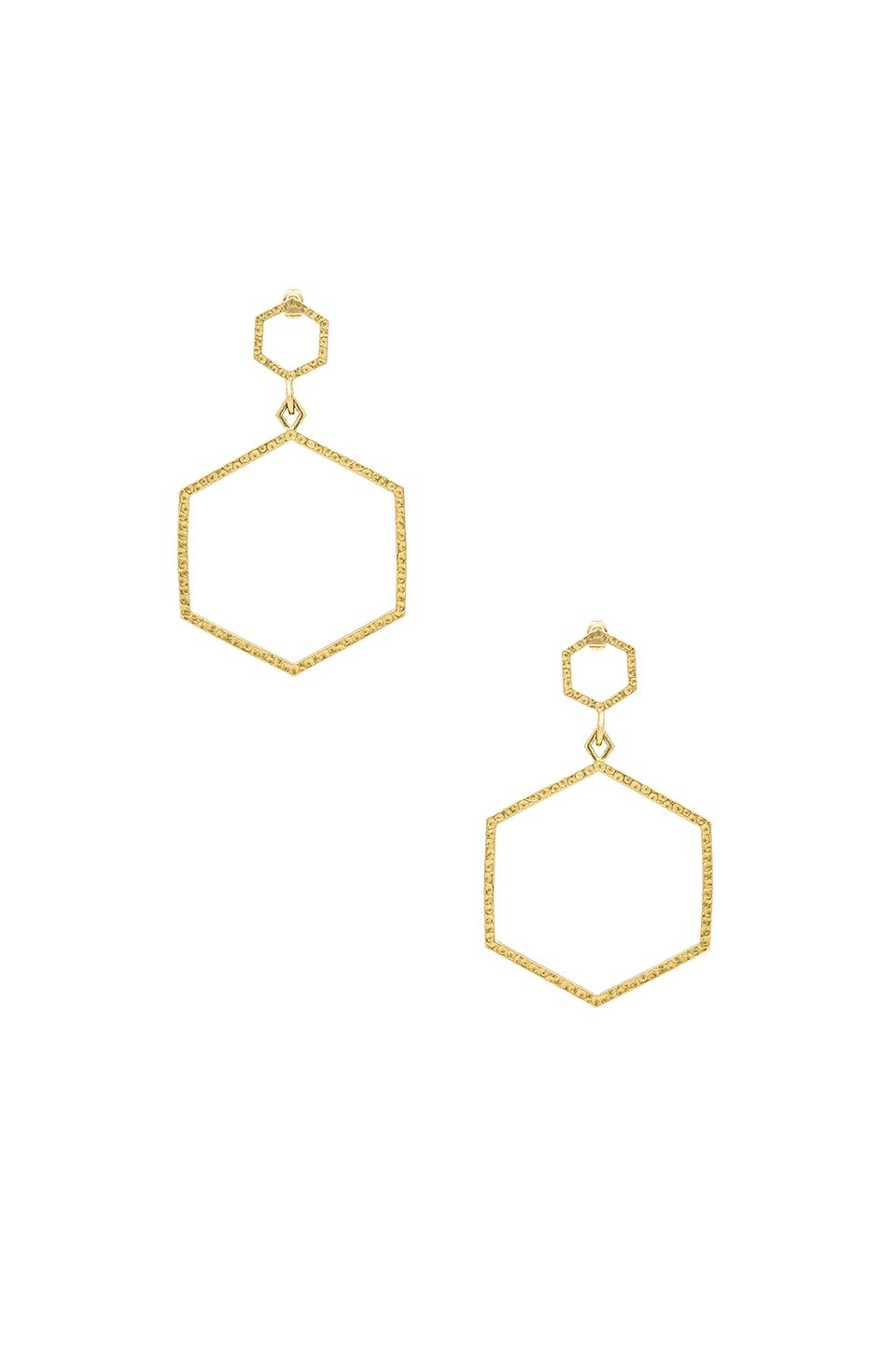The Hammered Hex Statement Earrings