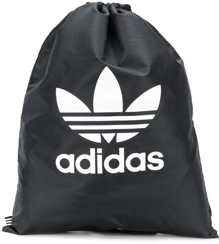 Trefoil drawstring backpack