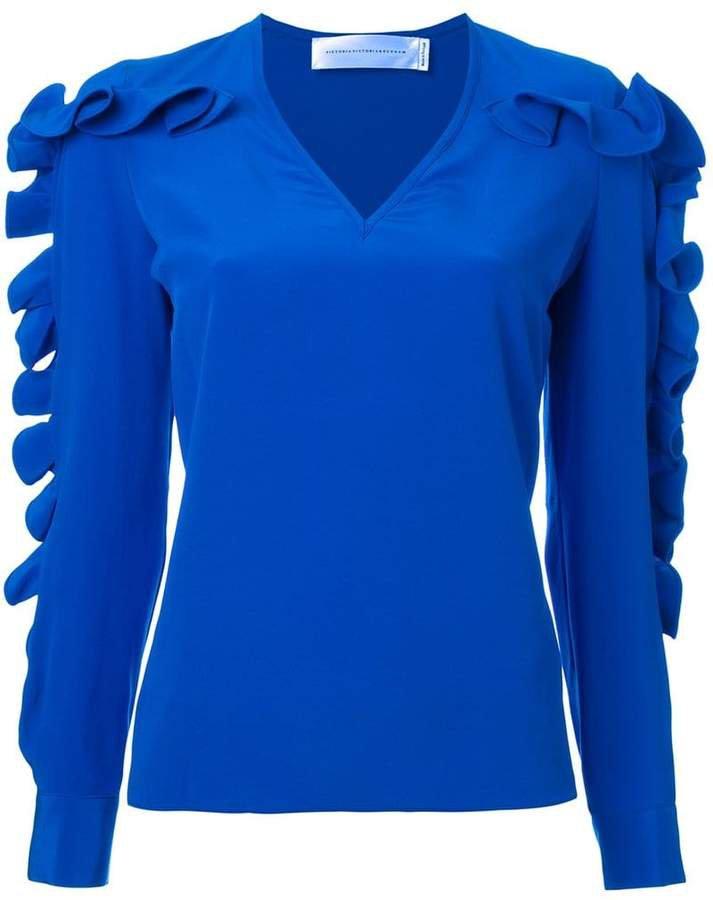 Victoria ruffled sleeve blouse