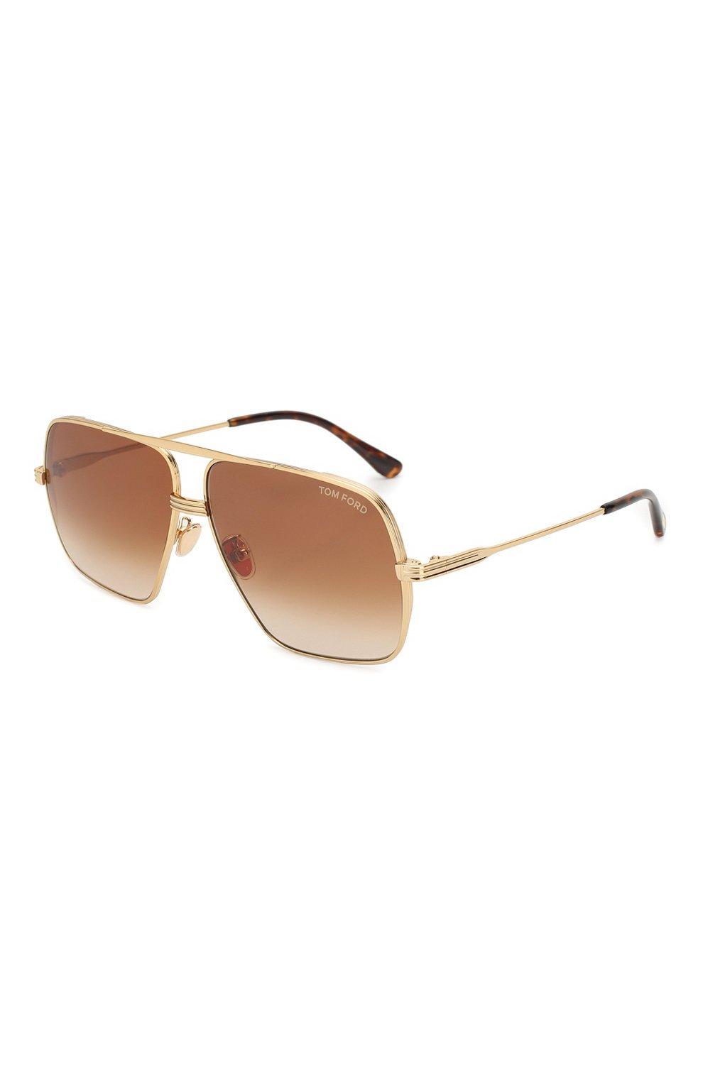 Мужские золотые солнцезащитные очки TOM FORD — купить за 23650 руб. в интернет-магазине ЦУМ, арт. TF735-H 30F